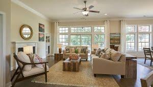 DR Horton Coastal Living Room