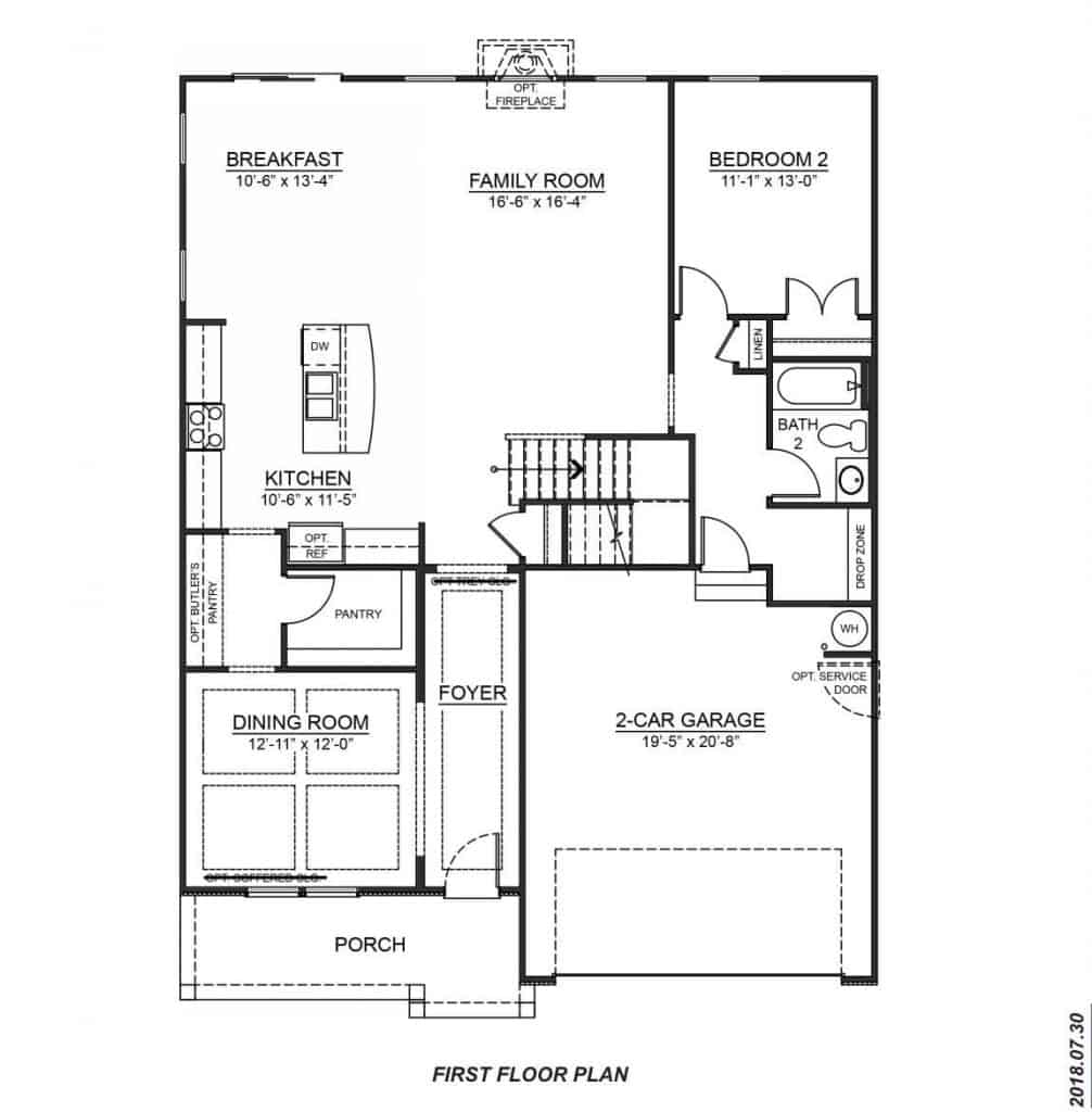 DR Horton Hampshire First Floor Plan