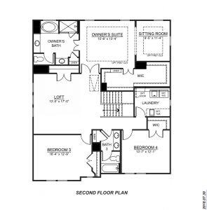 DR Horton Hampshire Second Floor Plan